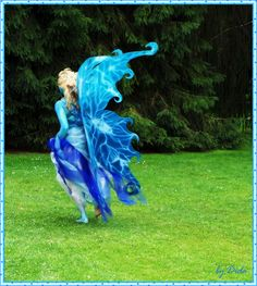 Fairy costume--love the curlicues on the wings