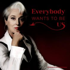 """Everybody wants to be us."" - The Devil Wears Prada ©2014 FOX All Rights Reserved"