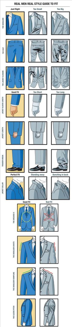 How A Mans Suit Should Fit Fashion Guide http://coolpile.com/media-magazine/mans-suit-fit-fashion-guide/ #menswear #infographic