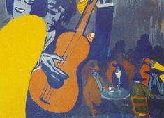 Untitled - Scene in a Cabaret in Madrid, 1922, Salvador Dali Size: 74.1x54.9 cm Medium: gouache, cardboard