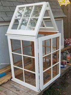 Wood Window Greenhouse. Wood  Windows For Sale at ClouseCreationsCo