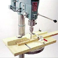 Drill Press Table -- This setup will allow you to perform numerous machining processes with impressive precision.