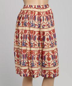 Look what I found on #zulily! Red & Blue Floral Skirt - Women #zulilyfinds