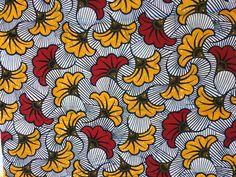 """1 coupon très beau Wax Vlisco """"Fleurs de mariage"""" Rouge : Tissus à thème par afrikades"""