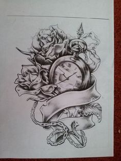 Broken Pocket Watch Tattoo | ... Pocket Watch With Roses Tattoo ...