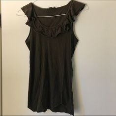 Ruffle front tank This tank is light and perfect for the summer. Pairs well with jeans, shorts a skirt etc. Banana Republic Tops Tank Tops