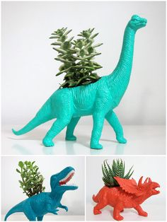 Despite my recent dinosaur experience, I'd love to house some plants in these containers.