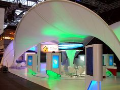 Fabric Wave Canopy | Pharmaceutical Stand, Copenhagen