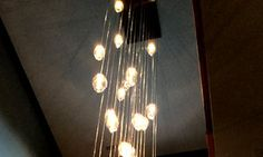 PROJECT: HAND BLOWN 30 LIGHTS CHANDELIER