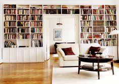 Platsbyggd bokhylla, Davidhall, Malmö. Rita upp din egen på www.platsbyggdbokhylla.se