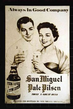 MANY of the old San Miguel print ads chronicled the prevailing values and fashion. Beer Advertisement, Old Advertisements, Vintage Comics, Vintage Ads, San Miguel Beer, Filipino Culture, Philippines Culture, Brand Advertising, Old Commercials