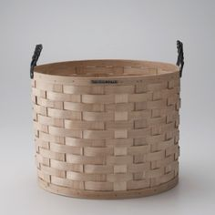 White Ash Basket - These beautifully woven organizers can be used to hold countless items around your home – from laundry and rolled bath towels to knitting and logs, toys and magazines. Schoolhouse Electric, Storage Baskets, Laundry Baskets, Laundry Room, Rustic Charm, Inspired Homes, Basket Weaving, Solid Brass, Decoration