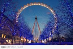 London at night. I plan to see this in person very soon.
