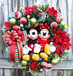 IGW Gallery: Custom Order Disney Mickey and Minnie Mouse Christmas Wreath