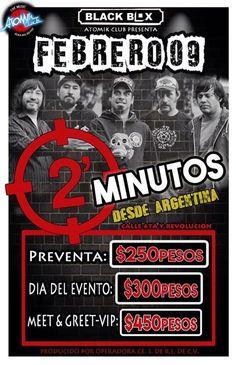 2 minutos el próximo 9 de febrero en el Black Box Tijuana