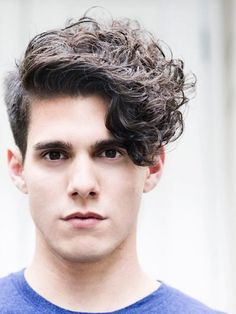 Curly Angular Fringe - men's haircut
