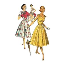 1950s Womens Daydress Bolero Vintage Sewing by ErikawithaK, $25.00