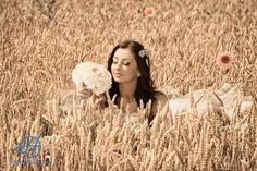 bride in the grains