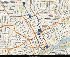 Map of Detroit Tourist - http://holidaymapq.com/map-of-detroit-tourist.html