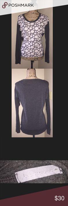 🚨 3 for $25 🚨 Olivia moon shirt Olivia moon shirt long  sleeve gray with white pokadot on the front size medium Olivia Moon Tops Tees - Long Sleeve