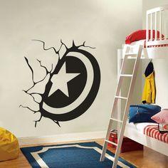 Captain America Superhero Shield Wall Art Sticker