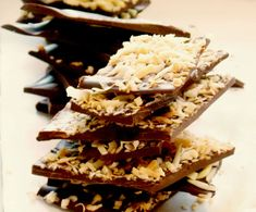Dark Chocolate Holiday Bark - Sea Salt, Toasted Coconut and Almond | My Clean Kitchen