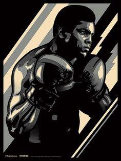 Muhammad Ali by James White #poster #art #digital