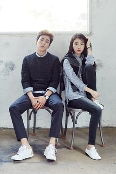 IU and Lee Hyun Woo are a believable couple in 'Unionbay's fall pictorial