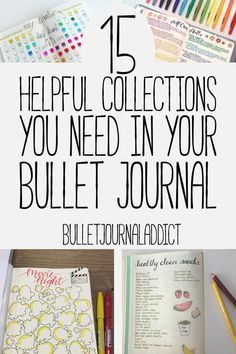 Bullet Journal Collections - Bullet Journal Inspiration for Collections to Try in Your BuJo - 15 Helpful Collections You Need In Your Bullet Journal Bullet Journal Inspo, Bullet Journal Banners, Bullet Journal How To Start A, Bullet Journal Notebook, Bullet Journal Themes, Bullet Journal Spread, Bullet Journal Ideas Pages, Journal Prompts, Journal Pages