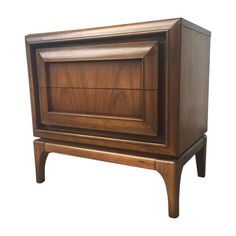 Mid-Century Modern Walnut Nightstand on Chairish.com