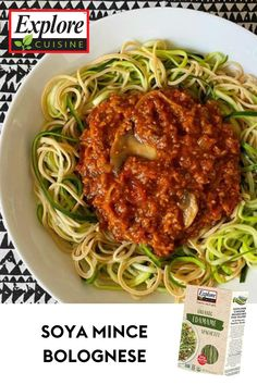 If Bolognese is a favorite pasta dish in your house, be sure to try this plant powered version! This recipe called for edamame spaghetti and zoodles and trust us, you won't even notice a difference! #plantpasta #pastapower Edamame Spaghetti, Bolognese, Plant Based Recipes, Pasta Dishes, Trust, Meals, Ethnic Recipes, Food, Kitchens