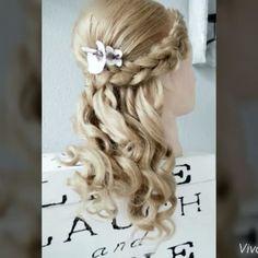 Cute hair style  #hair #style #cute for bookings www.violetaberisha.com #bride #bridal #wedding #vegas_nay