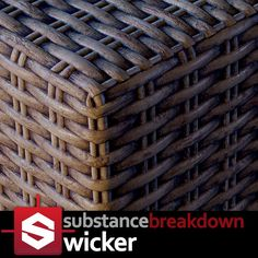 I needed a wicker basket material for all the baskets I was making for Rome: Fantasy Packs I and II. Substance Designer to the rescue! This one was procedural. This was fun to do. Since the wicker pattern is lower frequency, you can dial in a greater Learn Art, Creative Director, Wicker, Cool Stuff, Game Dev, Artwork, Knowledge, Texture, 3d