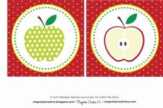 free school printables: apple decor for banner accents