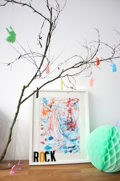 I have a feeling my house is going to be overrun with framed kid artwork in a few years, LOVE