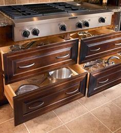 drawers storage under cooktop - Google Search