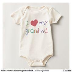 Kids Love Grandma Organic Infant /Creeper Romper
