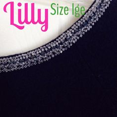 Lilly Pulitzer size Large NWT The Serena boat neck sweater is extremely elegant and classy. Beautiful beaded crystals. Short sleeve in size large in true navy NWT Lilly Pulitzer Sweaters Crew & Scoop Necks