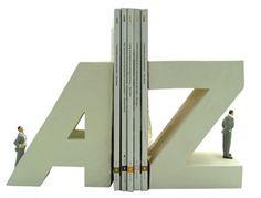 Sujetalibros de la A a la Z