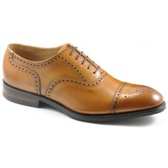 130 years of bench-made shoe-making techniques go into making every pair of these Loake 'Seaham' in Tan Burnished calf with scroll and punch patten on the upper. No detail is compromised in this premium range of footwear. Finest calf leather's and Goodyear Welted leather soles, with a rubber sole on the top to aide the wearing capabilities. http://www.marshallshoes.co.uk/mens-c1/formal-c4/loake-mens-seaham-tan-calf-punched-derby-shoe-p4009