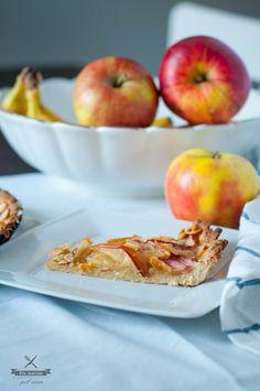 Tarta jabłkowo-migdałowa Almond and apple tart polzarciempolserio.pl