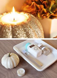 Glitter Pumpkin Candle Holders (click for all 5)