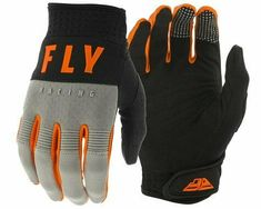 Charcoal Grey//Black Medium Fly Racing Media Gloves