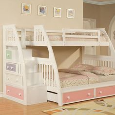 Color Box Stairway Twin over Full Bunk Bed | www.simplybunkbeds.com