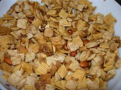 microwave Chex mix cant wait to try this. i make chex mix every year and it takes an hour to do it in the regular oven.
