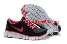 topfree30.com for nikes 50% OFF - Womens Nike Free Run Black Pink Shoes