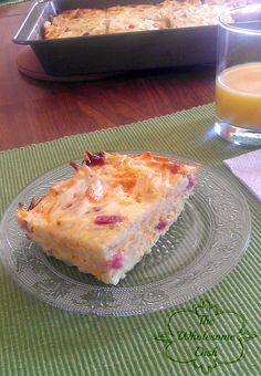 Easy Breakfast Casserole - Very good - I will add some spices/seasoning next time I make it.  Possibly sausage instead of ham for more flavor.