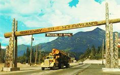 Postcard: Gateway to Holidayland, 1958 Old Pictures, Old Photos, Vintage Photos, Weekend Trips, Day Trips, Fraser Valley, Photo Boards, Life Photo, Vancouver Island