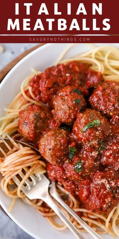 French Delicacies Essentials - Some Uncomplicated Strategies For Newbies Easy Italian Meatballs Are Juicy Homemade Beef Meatballs Baked In A Simple Tomato Sauce. You Will Not Believe How Quick These Are To Make - All From Scratch Full Of Healthy Real Food Beef Recipes, Real Food Recipes, Cooking Recipes, Healthy Recipes, Meatball Recipes, Budget Cooking, Vegetarian Cooking, Easy Cooking, Ground Beef