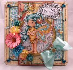 OOAK Wee Stamps 'Summer Fairy' Handmade  by SWGOriginalDesigns, £7.50